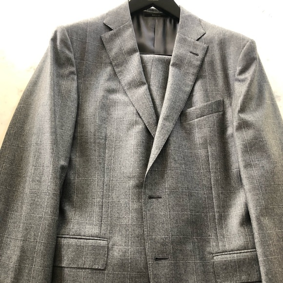 423fb8a2b75ff Ermenegildo Zegna Suits & Blazers | Gray Window Pane Suit 42l | Poshmark